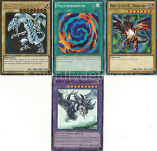 Yugioh First of The Dragons + Blue-Eyes White Dragon + Red-Eyes + Polymerization