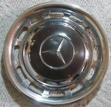 Mercedes Benz Lot Of 4 Hubcap & Beauty Ring Wheel Cover 9 1/2 Inch Center Cap