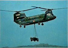 """Cartolina Aviazione - Elicottero CH- 47 C """"Chinook"""" - Non Viaggiata"""
