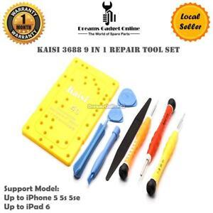 New 10 in 1 Opening Tool Screwdriver Repair Kit Set screws mat for iPhone iPad