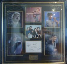 One Direction Hand Signed By All 5 Original Members Picture Display with COA .