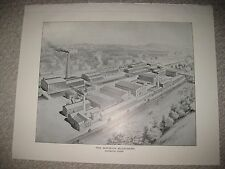 LARGE ANTIQUE 1893 NORWICH BLEACHERY CONNECTICUT PRINT FACTORY INDUSTRY RARE NR