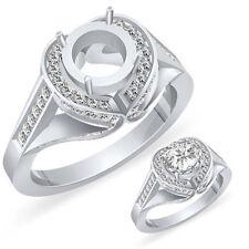 1 CT Round Diamond Engagement Setting Wedding Anniversary Ring 14k White F VS1