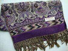 NEW Pashmina Winter Scarf Scarves Silk Violet Geometric Floral Shawl Wrap Range