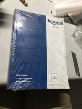 Triumph Tiger 955 Manual Service Owners New Genuine 3850775