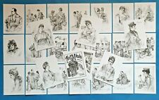 More details for new set of 26 a6 postcards illustrations from the mikado 1888 by c.w allers