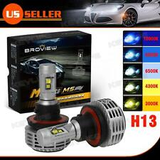 2x 9008 H13 6000Lumen Headlamp High Low Beam LED Bulb Replacement BroView M5