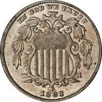 1883 Shield Nickel Nice BU+ Great Eye Appeal Nice Luster Nice Strike