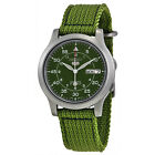 Seiko 5 SNK805 K2 Automatic Green Nylon Canvas Strap Men's Watch with Seiko Box