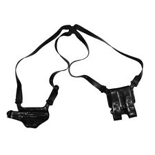 Galco Miami Classic Adjustable Shoulder Holster RH Leather Black Glock 17 22 31