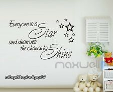 Everyone is a Star Wall Quote decals Nursery sticker decor Vinyl Kids art