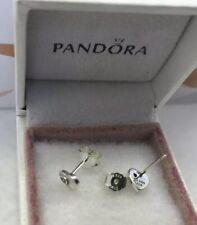 """Pandora """" Vintage Heart Fan """" Stud Earrings  CZ  #297298CZ"""