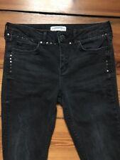 Jeans mit Nieten, ZARA WOMAN, Gr. 34, schwarz, Skinny, Risse, sehr guter Zustand