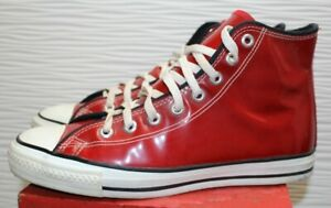Converse Chucks MADE IN USA ROT LACK UK8,5 42 limited edition Vintage