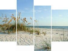 Super X Large Beach Sand Dunes Seaside  Multi 4 Panel Piece Set Canvas Pictures