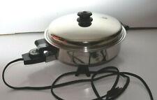 Saladmaster #7817 Electric Skillet Vapo lid Works Good Cord issue works fine