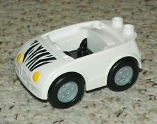 1 x Lego Duplo Fahrzeug LKW weiß schwarz Zebra Zoo 6272 4653071 87700c03pb01