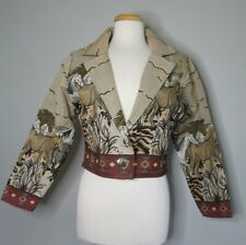 """Vintage Ladies """"Southwest Canyon"""" Size M  Equestrian Horse Tapestry Jacket"""