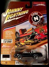 JOHNNY LIGHTNING 1984 OLDS CUTLASS BLACK 1 OF 2980 RR TIRES CARS N COFFEE!!