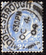 1902 Sg 231 M16/3 2½d Pale Ultramarine with Middlesbrough Cancellation