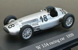 MERCEDES BENZ W 154 1939 1:43 Scale Racing Car Model Metal Miniature Silver