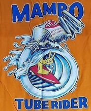 MAMBO XXL DEEP ORANGE MUSCLE LOUD T-SHIRT TUBE RIDER MATTHEW MARTIN SURF CULTURE