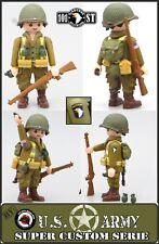 NEW! Playmobil Custom WW2 SOLDADO USA 101 AIRBORNE + Granadas Ejercito Americano