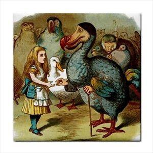 Alice In Wonderland Ceramic Tile Art Meets Dodo Bird Color
