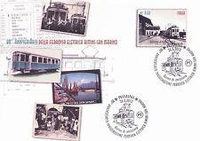 2012 Anniversario ferrovia elettrica - Italia - busta postale FDC