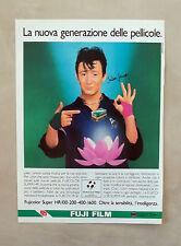 D997 - Advertising Pubblicità -1987- FUJI FILM PELLICOLA TEST. JULIAN LENNON