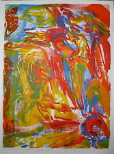 Peter NYBORG Gravure Originale Signée COBRA Art abstrait abstraction