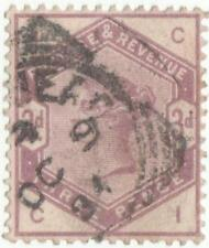 QV 1883 S.G.191..3 PENCE LILAC USED..S.G.2009 CAT VALUE 90 POUNDS