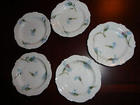 ANTIQUE BONE CHINA MONTMERY FORGET ME NOT by HAVILAND 5 LEMON / SAUCE PLATE