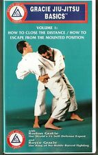 GRACIE JIU-JITSU BASICS VOL. 1 VHS Rorian Royce MMA Video Close Distance Escape