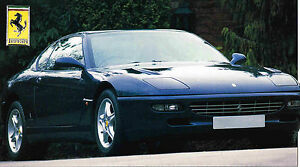 1997/1998 FERRARI 456 GT SPEC SHEET / Brochure / Pamphlet / Flyer