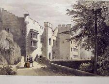 Hulme Original 1858 Color Lithograp Brougham Hall Westmoreland 11 by 17