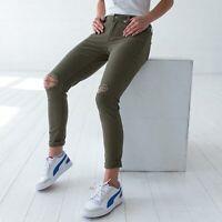 Levi's 535 Super Skinny Damen grun Destructed Kalamata Jeans DE 38 / US W31 L30