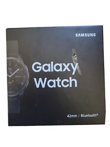 Samsung Galaxy Watch SM-R805U 46mm Silver Case Black Strap Smart Watch - (SM-R8…