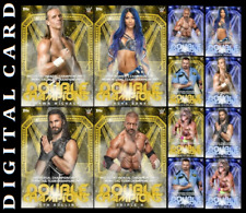 TOPPS WWE SLAM DOUBLE CHAMPIONS WAVE 2 [SET 12 CARDS GOLD/BLUE]