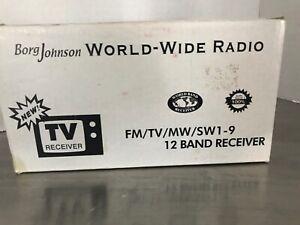 Borg Johnson World-Wide Radio NIB FM/TV/MW/SW1-9 12 band receiver
