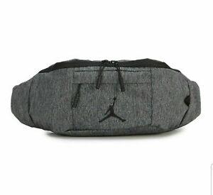 Nike Air Jordan Crossbody Fanny Waist Pack Gray Black Bag 9A0092-GEH NWT O/S