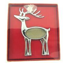 Reindeer Silver Christmas Photo Ornament