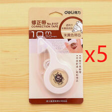 DELI 5PCS Correction Tape School Office Supplies Students Learning Stationery