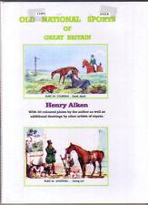 OLD NATIONAL SPORTS OF GREAT BRITAIN.   HENRY ALKEN HARDBACK BOOK A4 FORMAT