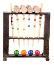 Dollhouse Miniature - Wood Croquet Game Set -  1/12 scale