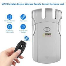 WAFU Elektronisch Türschloss Verborgen Wireless Lock Mit 4 Fernbedienung Set