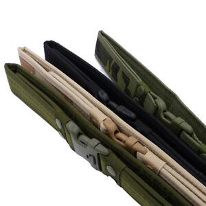 AU Outdoor Military Tactical Camo Belt Waistband Canvas Webbing Rectangle Buckle