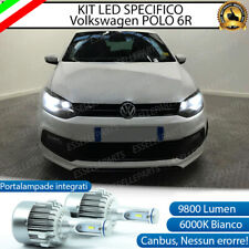 KIT LED H7 VW POLO 6R CANBUS 9800 LUMEN 6000K BIANCO PLUG AND PLAY ALL IN ONE