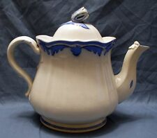 Cobalt & Light Blue Ironstone Oval Teapot -TULIP Shape By Elsmore and Forster