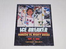 "NHL Hockey New York Rangers vs Anaheim Ducks Vintage Game (vegas) Poster 28""x22"""